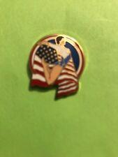 Gymnastics American Flag Lapel Pin - New by Margarita