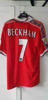 1998/99 Manchester United Home Shirt #7 BECKHAM All Sizes S / M / L/ XL