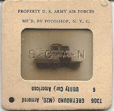 WWII US 35mm Recognition Slide Negative- Panzer- Tank- M20 Greyhound Ut Car- #6