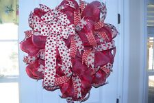 """VALENTINE"" DECO MESH WREATH"