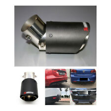 Real Carbon Fiber Exhaust Pipe Muffler Tip Car Accessories Angle Adjustable 63MM