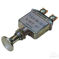 Golf Cart Headlight Push Pull Switch HEAVY DUTY Universal 12 Volts 75 Amps 0010