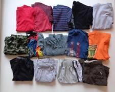14 Pc Boys Lot Long Short Sleeve Shirts Pants Pajamas Sz M L