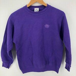 USA Olympic Sweatshirt Youth L Purple USA Olympic Logo Embroidered