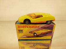 MATCHBOX SUPERFAST 33 DATSUN 126 - YELLOW - EXCELLENT CONDITION IN BOX