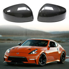 FULL REAL CF Caps For Nissan 370z 2009+ Carbon Fiber Side Mirror Cover