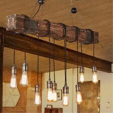 Vintage Wood Industrial Pendant Light Hanging Ceiling Lamp Rustic Chandelier !