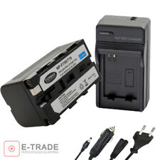 4900mAh NP-F750 Recharg. Li-ion Battery + CHARGER for Sony NP-F550 NP-F330 F53