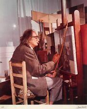 Marc Lacroix, Dali Painting a Woman, Original photograph, hand signed