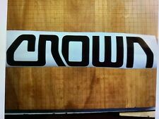 New listing 1 Crown Forklift Decal Black Vinyl Decal Sticker 13 inch x 3 inch