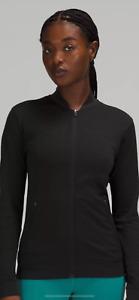 Lululemon Seamless Training Jacket Size 6 Black