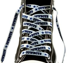 "Dallas Cowboys Team Logo Colors 54"" Shoe Laces Strings One Pair Lace Ups NWT"