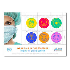 United Nations 2020 - C-19 Virus We are all in this together - Sheet of 6 - MNH