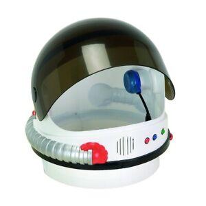 White NASA Child Astronaut Helmet with Sound Space USA Costume Visor Among Us