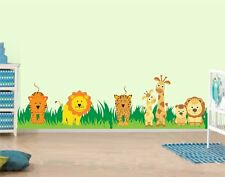Asmi Collections Wall Stickers Cute Animals on Grass