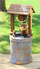 Solar Wishing Well Water Feature Fountain Garden Yard Outdoor Decoration New