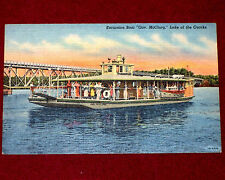 1930 1945 Vintage Linen Postcard Excursion Boat Governor McClurg Lake of Ozarks