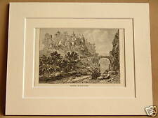 VAISON VAUCLUSE FRANCE ANTIQUE MOUNTED ENGRAVING FROM c1890 PUBLICATION 10X8