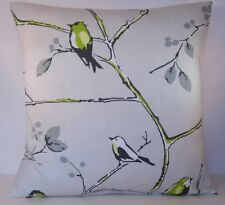 "Prestigious Berkeley Square Lime Birds Grey Trees 16"" Cushion Cover"