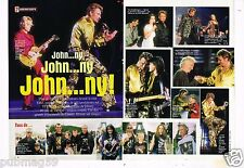 Coupure de presse Clipping 2000 (2 pages) Concert Johnny hallyday Tour Eiffel