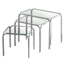 Set di tavolini trasparente