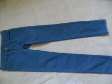 7 FOR ALL MANKIND coole skinny Jeans Light Stretch Drill blau Gr. 28 TOP 619