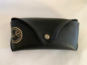 "VTG RAY-BAN Black Leather Eye Glass Case Snap Closure 6 1/2"" x 3"" x 1 1/2"""