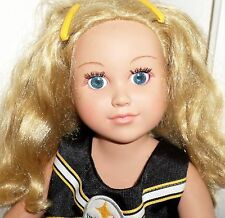 """Cititoy Journey Girl Doll Meredith 18"""" Dressed Blonde Blue Eyes Steelers Shirt"""