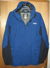 REI Men's Blue Gore-Tex Waterproof Attached Hood Winter Jacket - Size L