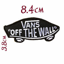 Quality Iron/Sew on Black VANS OFF THE WALL PATCH skate shoes sk8 old skool