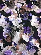 BF15 SCUBA EXCLUSIVE DIGITAL Roses Print Double Jersey Stretch Fabric Material
