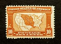 Scott US # 327 - 1904 Louisiana Purchase, 10 Cents; MHR; OG; CV=$125