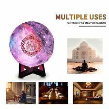7-Colors 3D Moonlight Quran Speaker Coran Player Wireless Bluetooth Touch Lamp