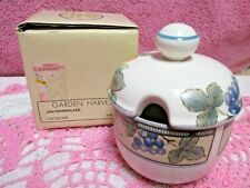 Mikasa Garden Harvest Jam Jelly Bowl with Lid Intaglio Oven Table Dishwasher