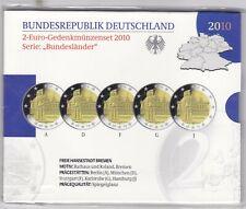 BRD Deutschland 5x2 Euro 2010 -Rathaus und Roland Bremen- Spiegelglanz PP OVP