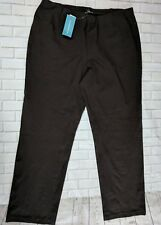 Eileen Fisher Slim Bootcut Dress Pants Womens Plus Size 18w Chocolate Brown