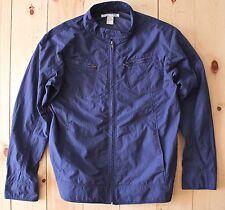 Men's Comme des Garcons SHIRT Nylon Moto Jacket in Blue Size M