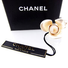 CHANEL ring pearl motif Authentic Used Y362