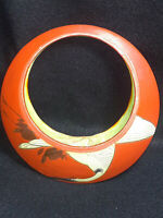 Round Orange, Stork Painting on Both Sides Wall Pocket (Japan)