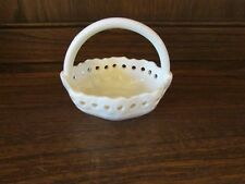 Hartley Greens Leeds ~small pierced Basket 6cms long, 7.5cms tall to the handle