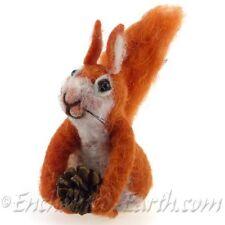 New Handmade Red Squirrel /Needle Felt / Felt Woodland Animals