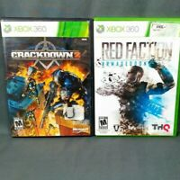 Red Faction Armageddon Crackdown 2 Microsoft Xbox 360 THQ Ruffian Lot
