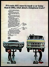 1972 AT&T Bell Company Telephone Truck Repair Rates Vintage Photo PRINT AD 1970s