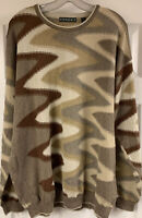 """Tundra Canada Mens 2XL """"Coogi Style"""" Earth-Tone Knit Sweater Cotton/Polyester"""