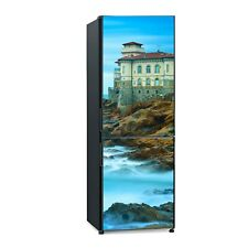 Kühlschrank Tür Aufkleber Wandtatto Wahrzeichen Burg Boccale auf Felsen und Meer
