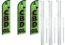 Cbd Öl Windless Flagge Mit Hybrid Stange Set 3 Packung