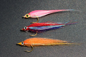12pcs 6 colors Shining Polar Fry Slowly Sinking Salmon Trout Minnow fly lure set