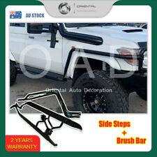 For landcruiser 79 2007+  2 Door Heavy Duty Steel Side Steps & Brush Bars
