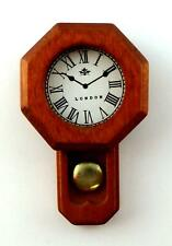 Dolls House Octagon Shaped Regulator Wall Clock Miniature 1:12 Scale Accessory