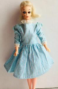 Vintage Barbie Clone Doll Eegee EG Babette Doll Platinum Ponytail OOAK Dress